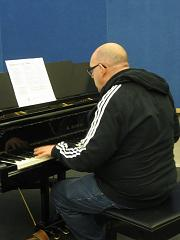 Ron playing piano