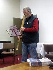 Playing the bass recorder