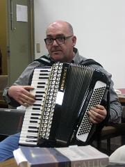 Performing at the Saturday night ceilidh